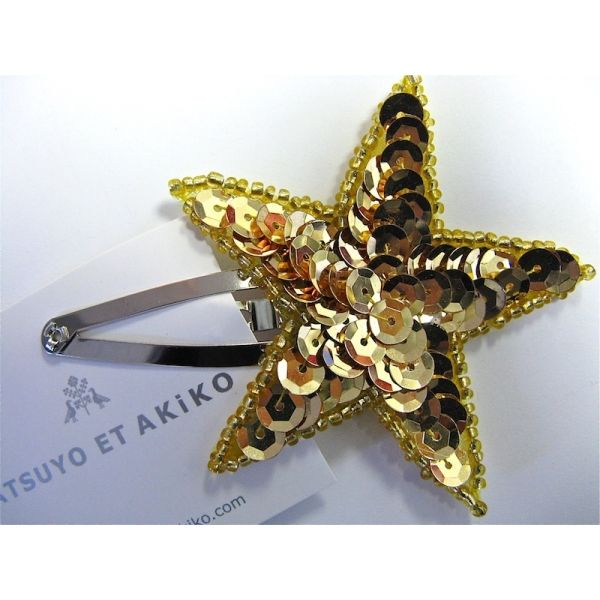Sequin Star Hair Clip from Darling ClementineGirls, Kids Style, Darling Clementine, Sequins Stars Hair Clips Gold, Gold Stars, Gold Sequins, Hair Accessories, Baby, Stars Clips
