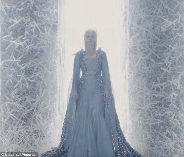Vengeance: Freya sets up her own ice-walled kingdom that symbolises the cold wall around h...