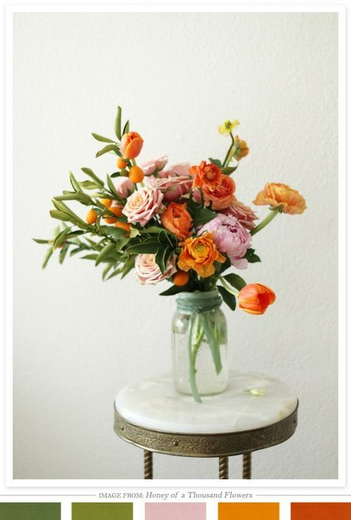 Sarah Winward of Honey of a Thousand Flowers - orange, green, pink