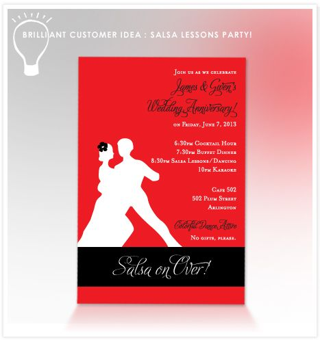 Salsa Lessons Party | Salsa Dance Party Invitations