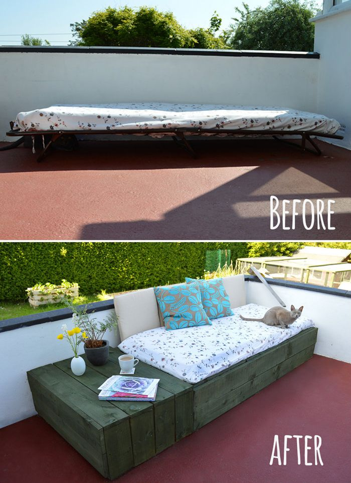 Pallet Patio Bed