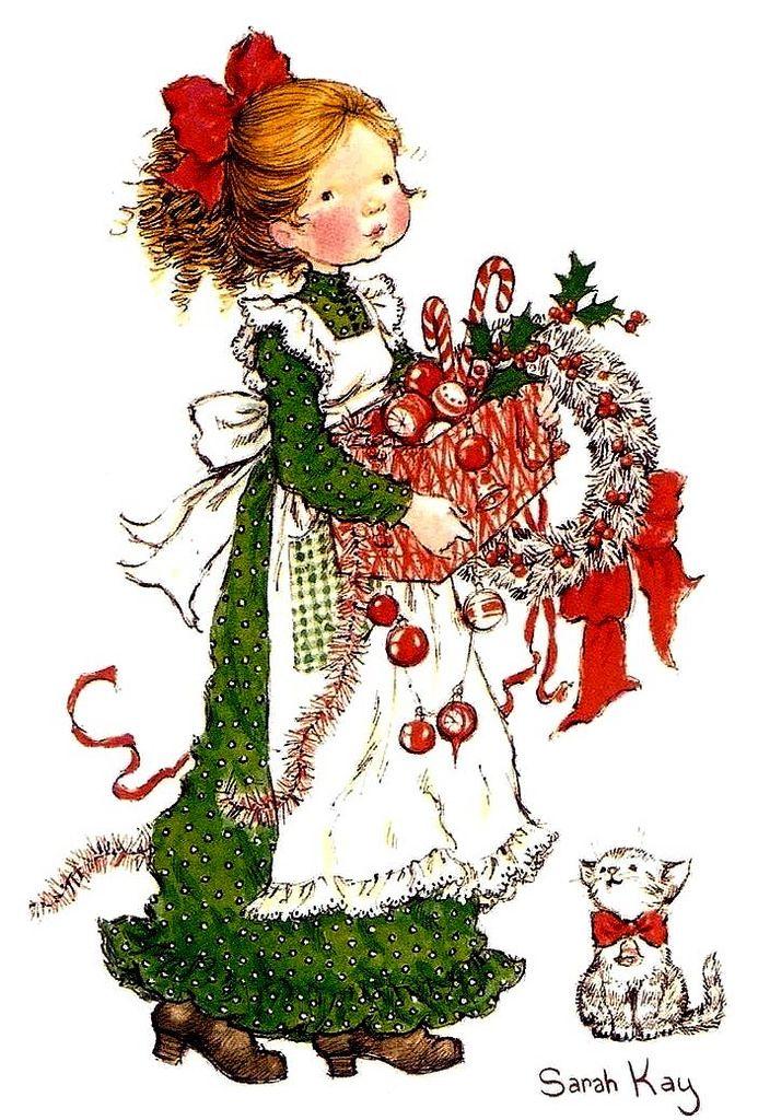 Мобильный LiveInternet Рождественско-новогодние зимние иллюстрации Сары Кей | поляшина_мама - Дневник поляшина_мама |