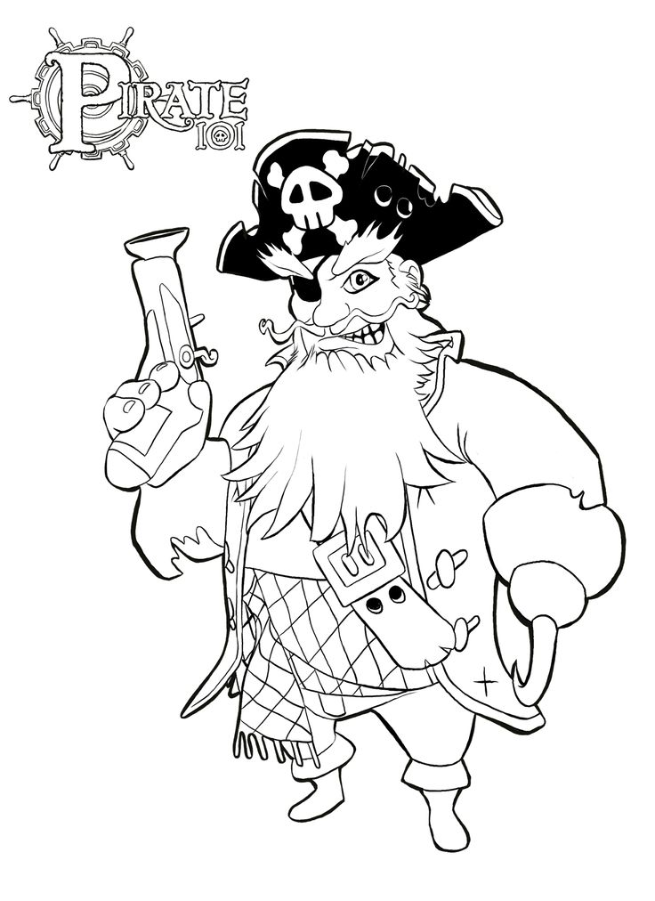 free pirate coloring pages with pirate coloring pages