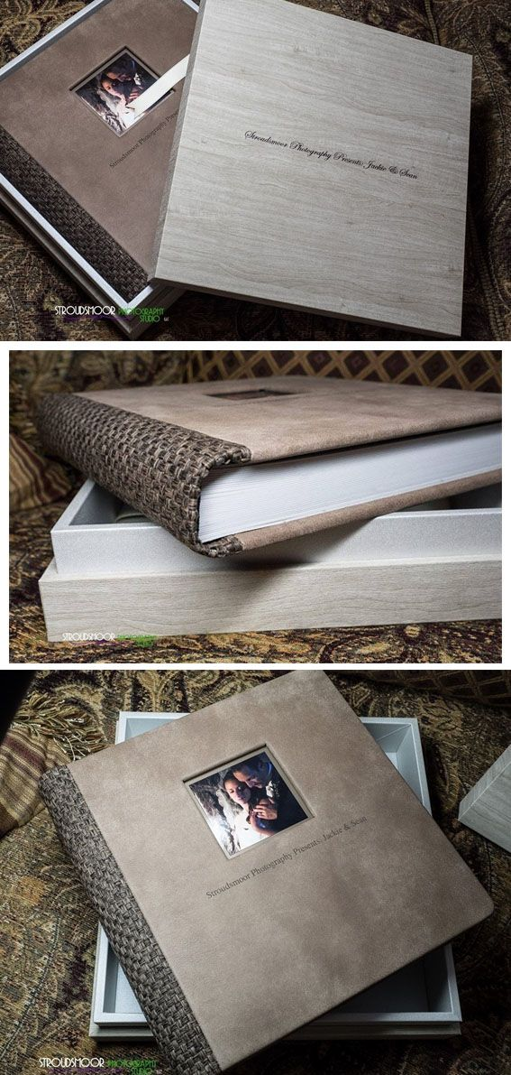 The Original Weddingbook in the New Squoia #Leather combined with woven, everithing in brown tones, the maple box complete the book making everything harmonious. #graphistudio #weddingbook #design http://www.graphistudio.com/en_US/home