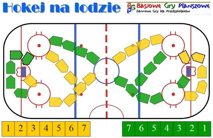 Hokej na lodzie - Plansza do gry