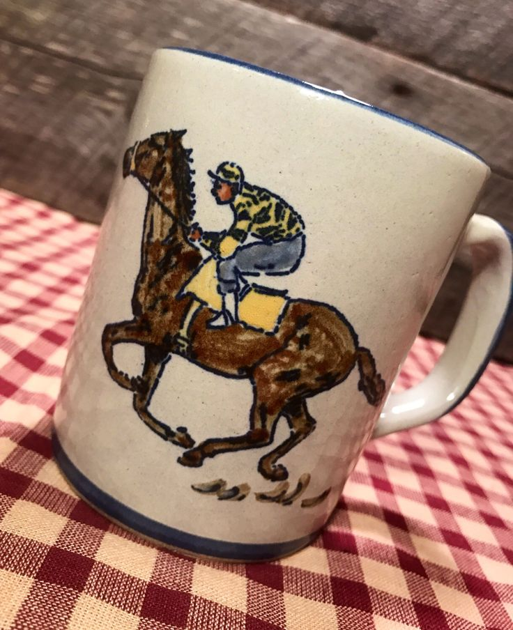 A personal favorite from my Etsy shop https://www.etsy.com/listing/516176013/1980s-louisville-stoneware-derby-horse