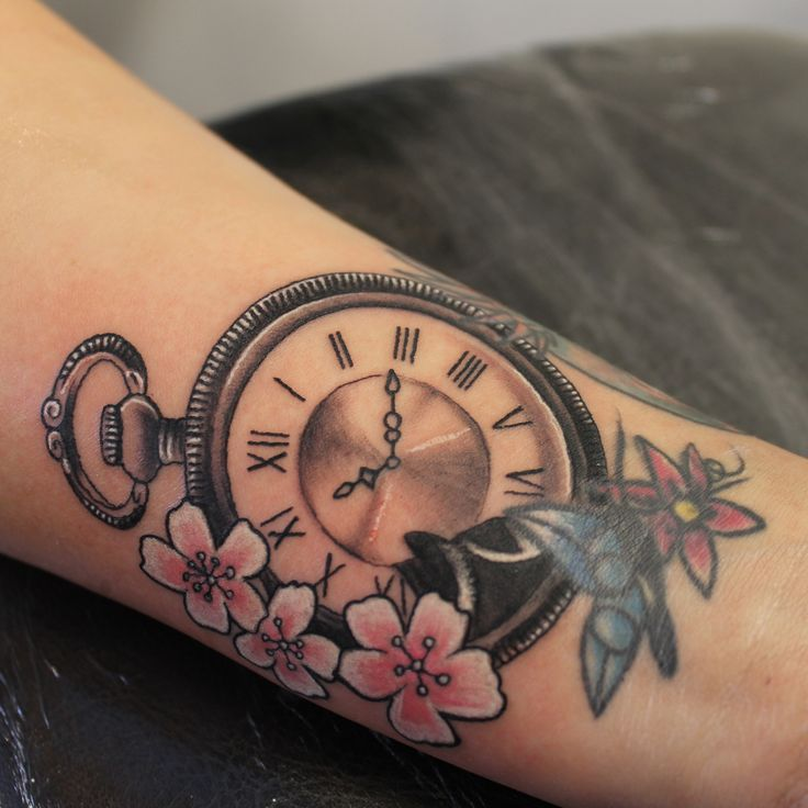 Custom pocket watch tattoo tattoo ideas pinterest for Pocket watches tattoos