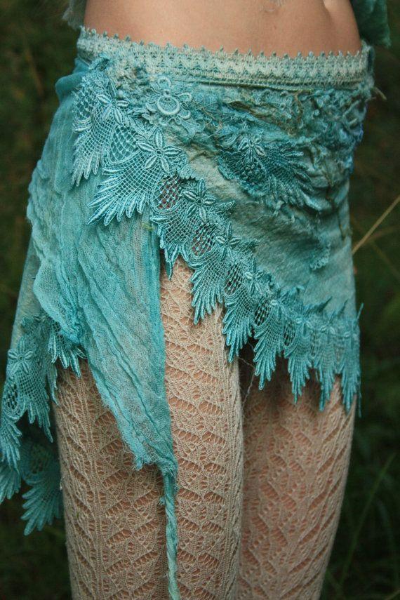 Mermaid wrap skirt whimsical burning man coustume by FractalWings, $125.00