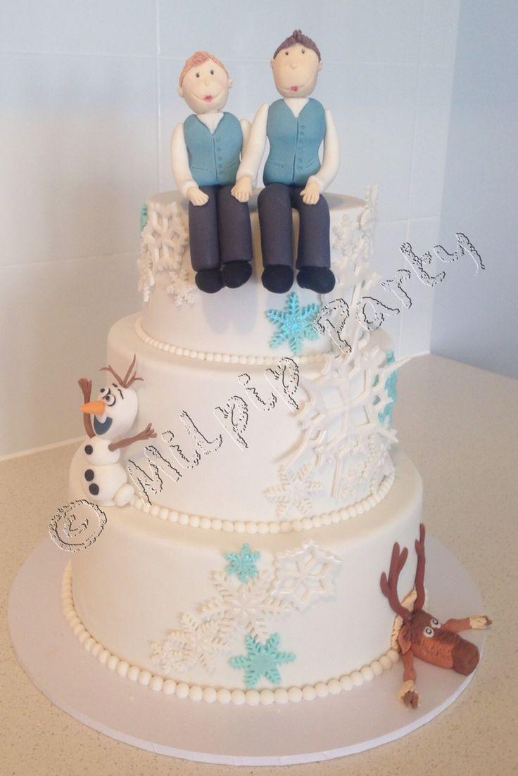 Frozen Wedding Cake Www.facebook.com/milpipparty
