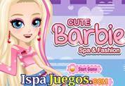 Juego de Barbie Spa and Fashion | JUEGOS GRATIS: Barbie en el Spa y en la mera moda, ayudarla a empezar su tratamiento de belleza para lucir su piel suave y bonita, cada paso necesita de sus propios movimientos y ademas después vestirla con la mejor ropa