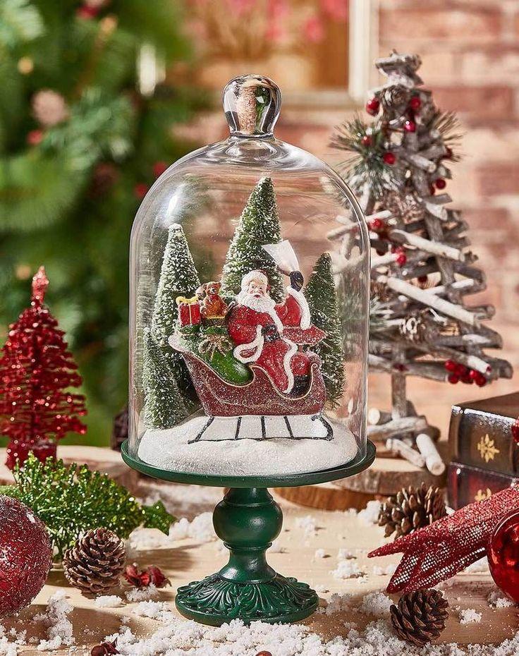 New Creative Resin Santa Claus Glass Christmas Cloche #NewCreative