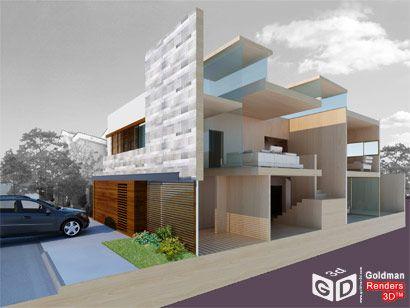 Render 3D, Casa CSZ maisons de rêve en 3D Pinterest D, Chalets