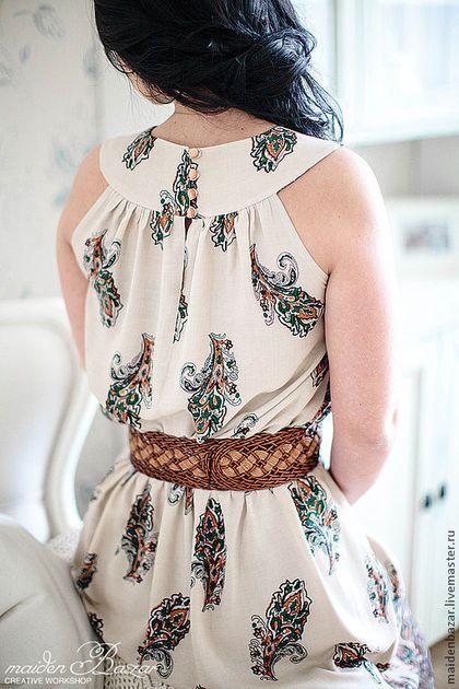 Платья ручной работы. Ярмарка Мастеров - ручная работа. Купить Платье с рисунком Пейсли. Handmade. Кремовый,…