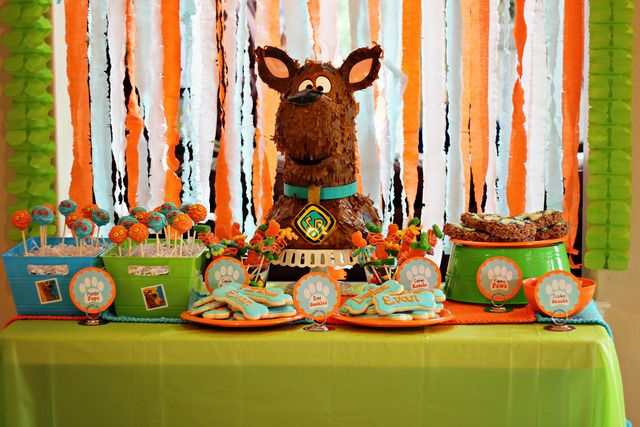 Scooby Doo party: Scooby Parties, B Day Parties, 4Th Birthday Parties, Birthday Parties Ideas, 4Th Bday, Birthday Party Ideas, Doo Parties, Bones Cookies, Party'S Ideas