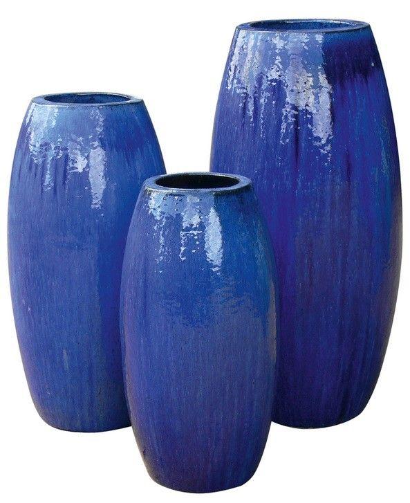 Vaso Vietnamita Esmeralda Azul Cobalto