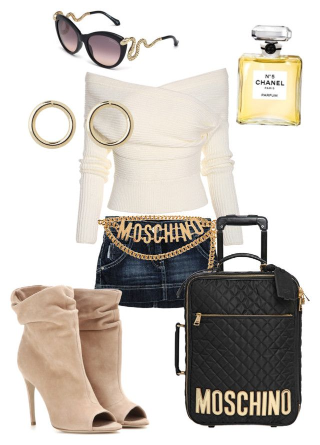 Bad b*tches in Vegas by shylastylez on Polyvore featuring polyvore, fashion, style, Calvin Klein Jeans, Burberry, Moschino, Witchery, Roberto Cavalli and Chanel