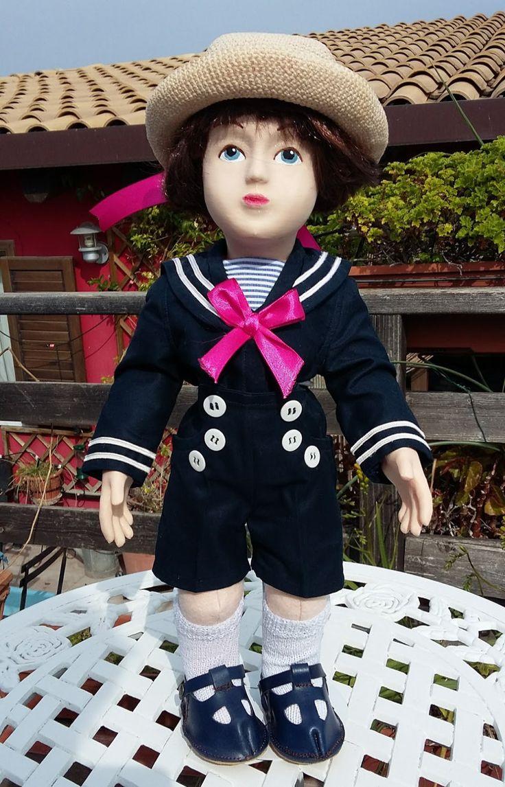 Bambolotto Zisa vestito alla marinara