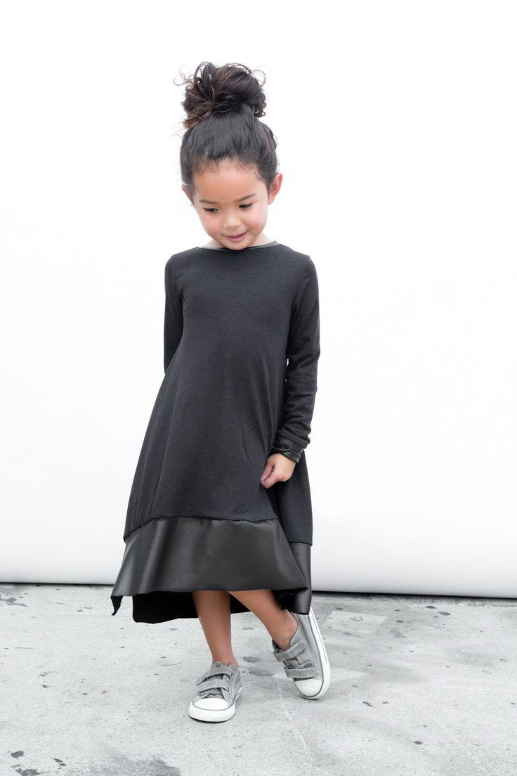 // Littles Collection Black Tee Dress
