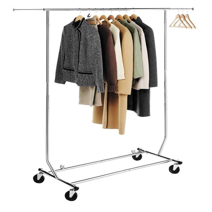 HLC Perchero para colgar ropa con ruedas y barras,altura ajustable entre 147 y 170cm,cromado: Amazon.es: Hogar