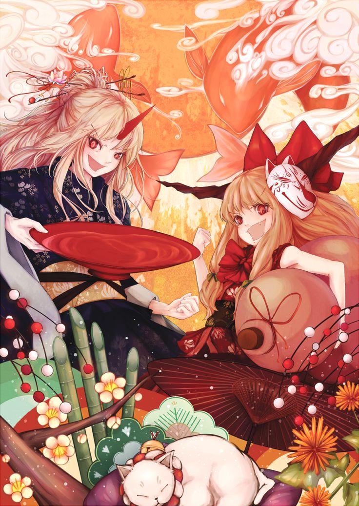 Ibuki Wallpaper   Suika Ibuki Touhou Project Wallpaper 1366x768 Pictures