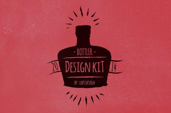 Bottler Design Kit by lups design on Creative Market