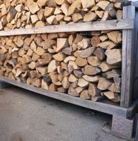 How to build a cheap firewood storage rack.