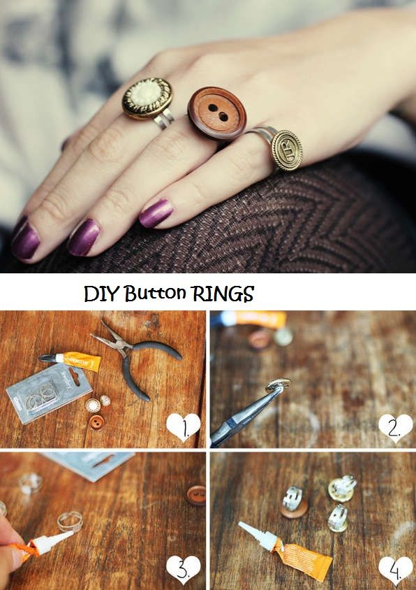 Button Rings DIY