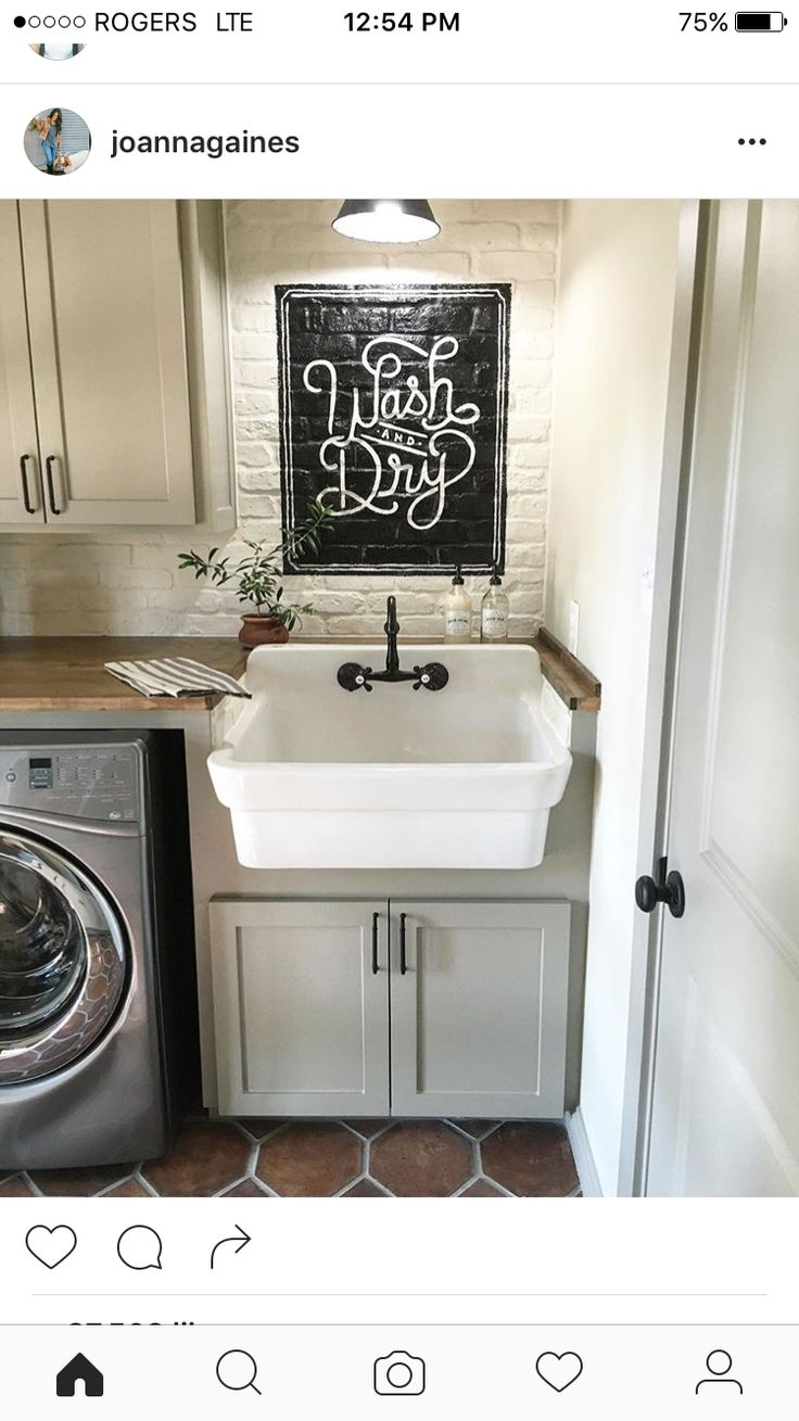 Joanne Gaines. You are such a talent!! Laundry room envy.
