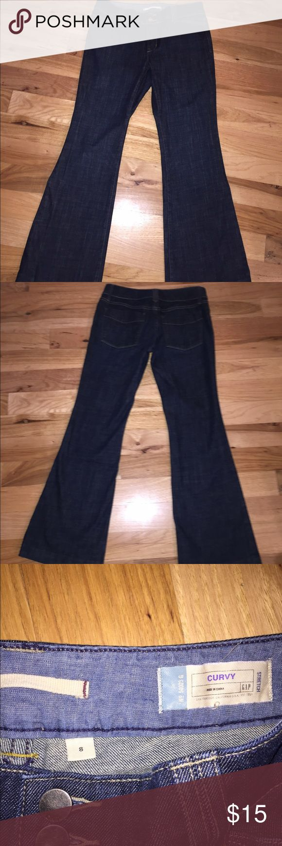 """Gap Jeans Gap Curvy Jeans practically new in great shape and very flattering. 30"""" Inseam GAP Jeans Flare & Wide Leg"""