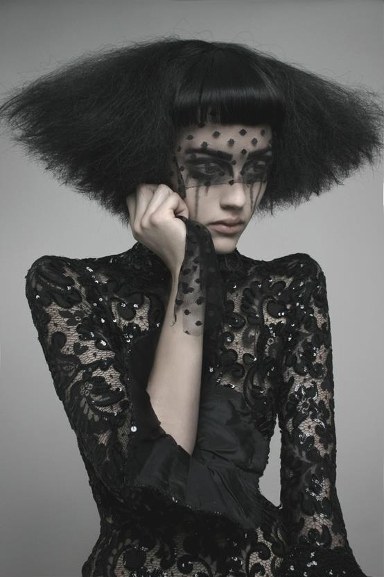 Black-hearted beauty. #editorial #hair #lace