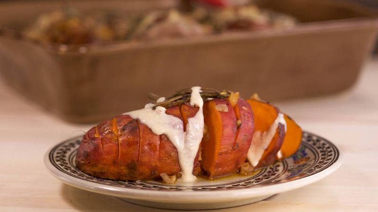 Caroline Manzo's Frangelico Baked Sweet Potatoes with Mascarpone Topping #thanksgiving2015 #recipe