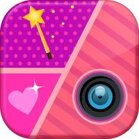 Girly Collage Photo Editor - Scrapbook Maker for Stitching Pics by Ivan Milanovic