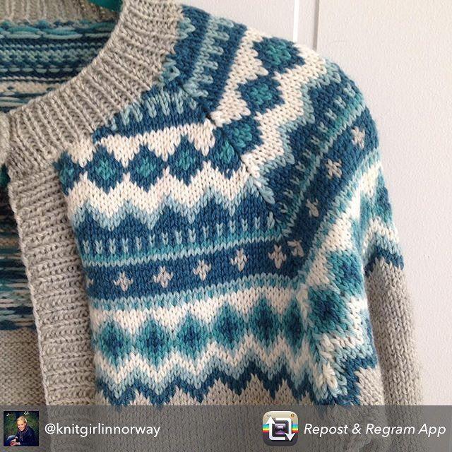 Trur jeg har verdens snilleste venninne!! Jeg får den vakreste gaven💕  #nordkappkofte    @knitgirlinnorway