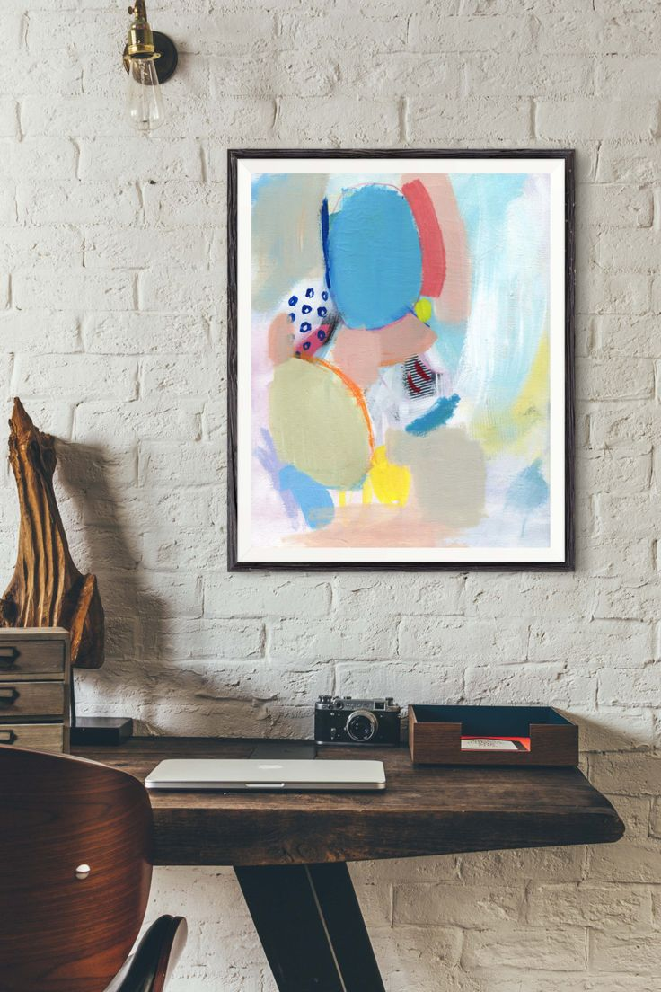 """Abstract Painting, Giclée Print, Pastel Color Painting, Abstract Art, Colourful Painting, Fine Art print, Multicolor Painting, """"THE ONE"""" by HolaGabrielle on Etsy"""