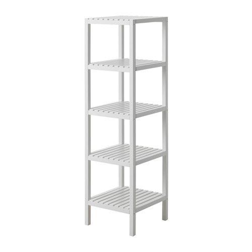SKOGHALL Regal IKEA Mit offenen Ablagen - so ist alles schnell griffbereit. Für Feuchträume geeignet, da feuchtigkeitsbeständig.