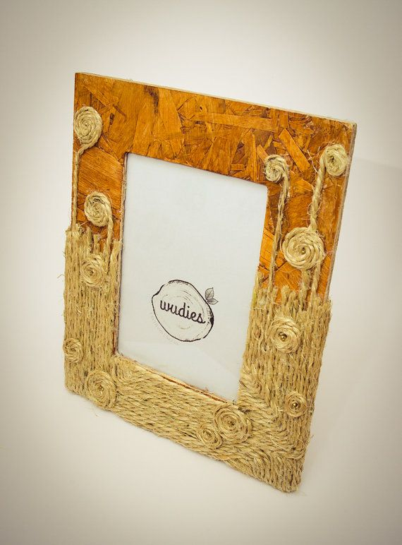 Village garden picture frame by Wudies on Etsy