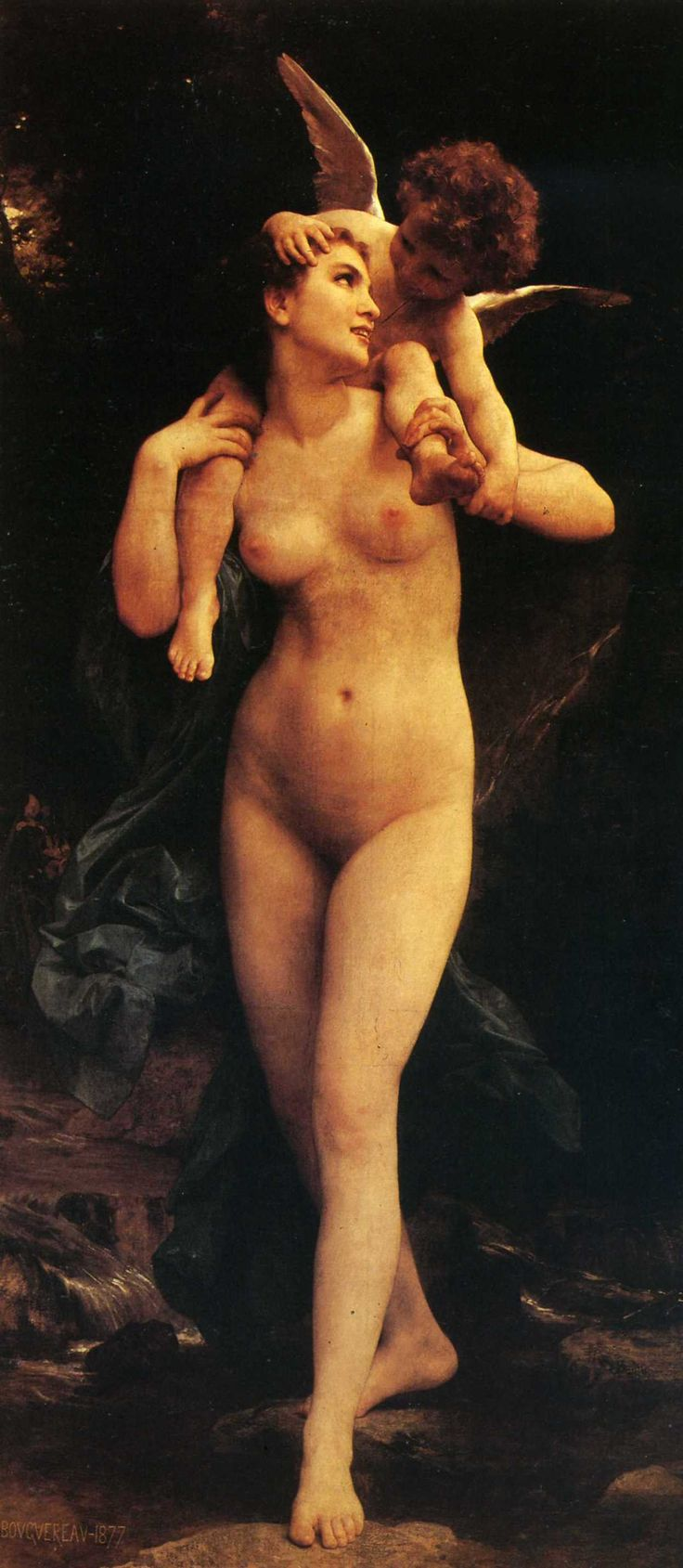 William Adolphe Bouguereau - Venus and Cupid. next possible art project reproduction