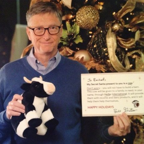 This girl lucked out after landing Bill Gates as her Reddit Secret Santa