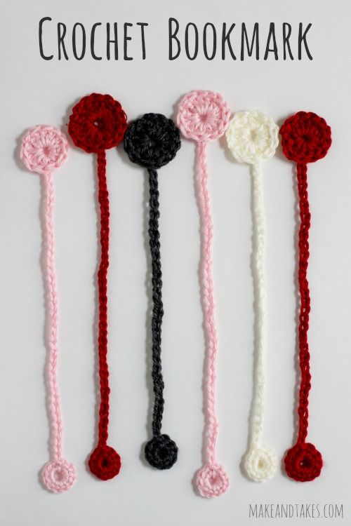We have a book-tastic pattern for our Crochet-A-Day series. We're stitching up a few Crochet Bookmarks to help save our spots in our favorite books.