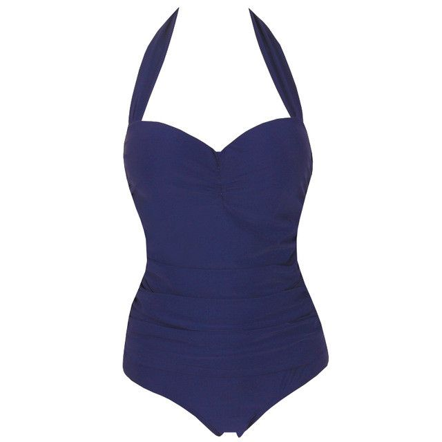 Unique Retro One Piece Swimsuit Plus Size Swimwear Women Summer Large Vintage Push Up Swimwear Bathing Suits Spa