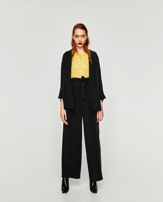 Image 1 of PALAZZO TROUSERS from Zara
