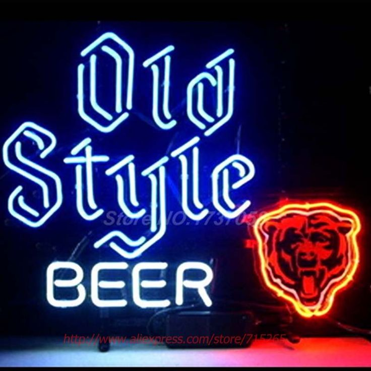 Neon Signs CHICAGO BEARS OLD STYLE  Neon Bulbs Handcrafted Recreation Room Restaurant Store Display Neon Tubes Personalize 24x20 #Affiliate