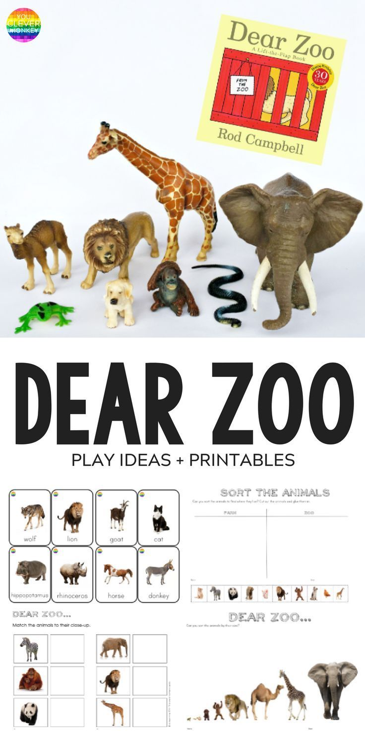 Dear Zoo - play ideas and printables inspired by the book 'Dear Zoo' | you clever monkey