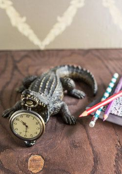 A Bite Out of Time Clock, #ModCloth I SO want this! It's totally like the Peter Pan crocodile! <3