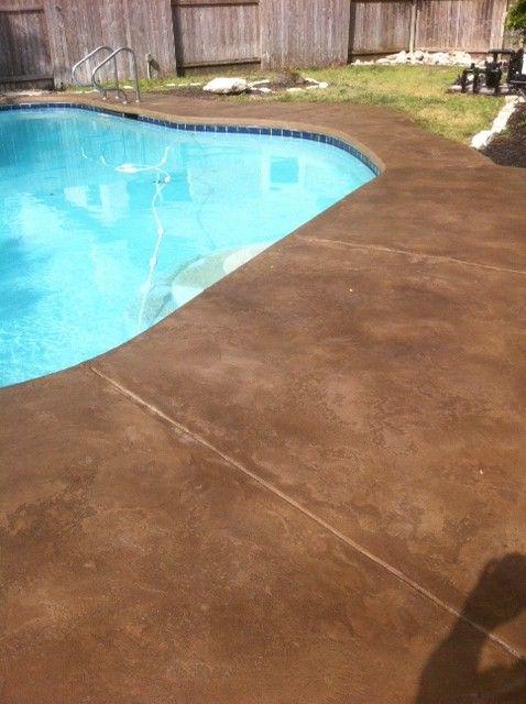 Pool Deck Backyard In 2019 Pool Decks Concrete Pool