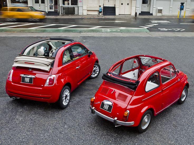 A brace of cinquecento Fiat 500 | Fiat 500 | Pinterest | Fiat 500, Fiat and Fiat 500c