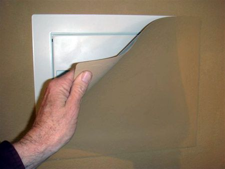 Paintable Magnetic Covered Steel Wall Safe