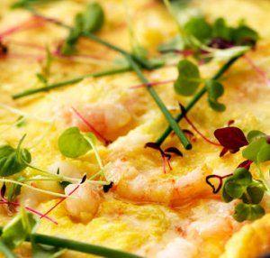 Omelett med reker 2 oppskrift -- www.matoppskrift.no