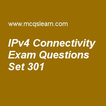 Practice test on ipv4 connectivity, computer networks quiz 301 online. Practice networking exam's questions and answers to learn ipv4 connectivity test with answers. Practice online quiz to test knowledge on ipv4 connectivity, ipv6 test, periodic analog signals, ipv6 addresses, connecting devices worksheets. Free ipv4 connectivity test has multiple choice questions as a term that has a limited lifetime in its travel through an internet is called, answers key with choices as message....