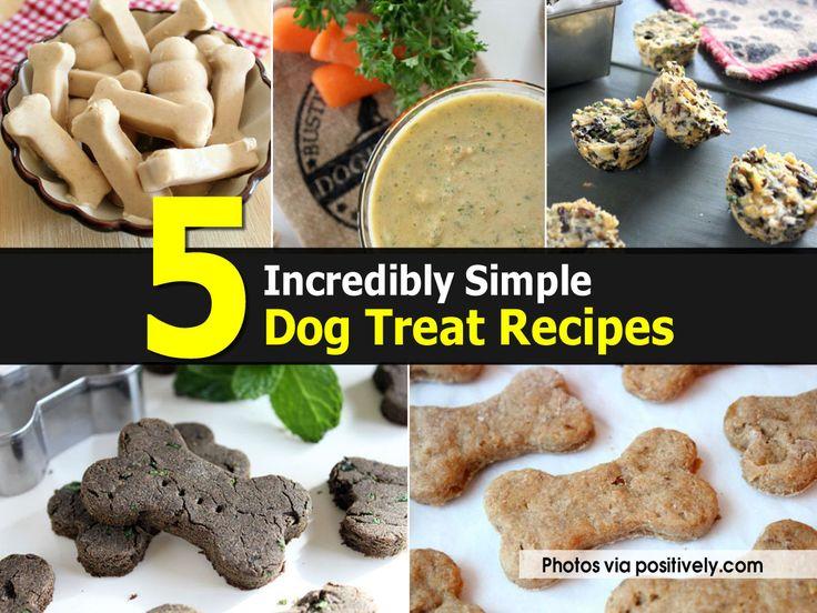 5 Simple Dog Treat Recipes - http://diytag.com/5-simple-dog-treat-recipes/